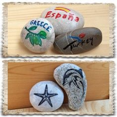 Видео Декор предметов Мастер-класс Рисование и живопись Рисунки на камнях для начинающих и способы переноса изображения Камень Краска