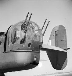 Boulton Paul Type E tailgun turret mounting four .303 machine guns, as mounted on a Halifax MkII of No. 78 Squadron RAF at Breighton, England.