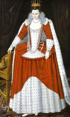 Possibly Lucy Russell, Countess of Bedford, in coronation robes for James I, National Portrait Gallery.