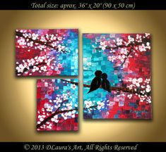 Abstract Landscape Painting ORIGINAL Modern Textured by DLaurasArt, $160.00