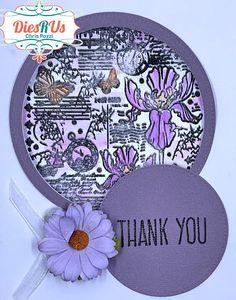 Dies R Us: Iris Window Thank YouGreeting Card