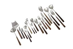 Bertel Gardberg A Set of Cutlery, 75 pcs, Lion De Luxe, stainless steel and palisander, made by Oy Hackman Ab Finland