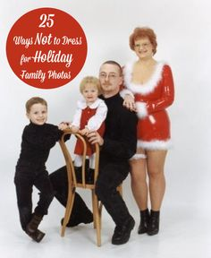 25 Ways Not to Dress Your Family for Holiday Photos | Babble