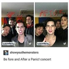 Brb just gonna die bc dallon and brendon are so attractive