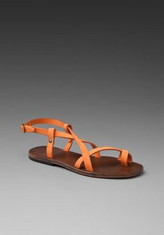 Ishvara Ibiza Sandal in Orange.
