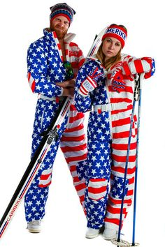 Shinesty's Paul Revere American Flag 80s Onesie Ski Suit | Get your vintage ski gear, Gaper Day goods, and all manner of outrageous clothing at Shinesty.com
