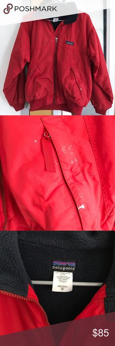 Vintage Patagonia jacket All time favorite Patagonia Down jacket. In great condition. There are minor splatters of paint in some areas of the jacket. Patagonia Jackets & Coats