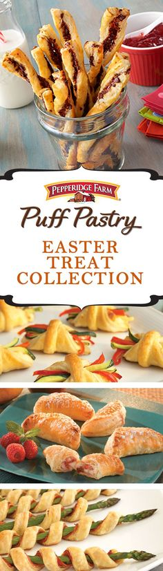 Puff Pastry Easter Treat Recipe Collection. Featuring recipes like Broccoli and Cheddar Bundles and Sweet Berry Shortcakes, this recipe collection showcases our favorite treats to serve this Easter. Whether you're looking for an easy appetizer, or a delicious dessert to serve with coffee, your Easter meal won't be complete without these tasty recipes.