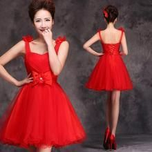 Luxury Style - Sleeveless Rosette Bow Accent A-Line Cocktail Dress $65.90
