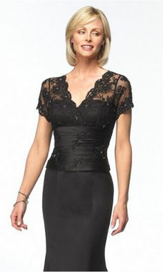 mother of the bride dresses...I love the lace sleeves on this dress