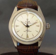 50s Vintage ROLEX TUDOR PRINCE 19J AUTOMATIC SWISS MEN MIDSIZE WATCH STEEL • For Sale $739.00