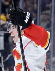 "Flames - first natural ""hat trick"" for - Johnny ""Hockey""…. Ice Hockey Teams, Hockey Games, Flames Hockey, Calgary, Johnny Gaudreau, Hockey Pictures, Win Or Lose, Hockey Players, Athlete"