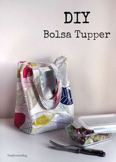 DIY Lunch bag / Bolsa para el tupper by ParafernaliaBlog