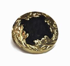 Black and Gold Metalized Plastic Buttons  by supplysideeconomics