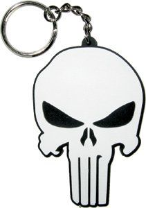 Marvel Comics The Punisher Skull Rubber Keychain