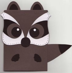 Racoon Card Tail Out by stampandshout - Cards and Paper Crafts at Splitcoaststampers