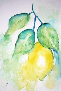 """""""Lemon Zest""""  Watercolour by Laura Moore"""