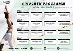 4 weeks yoga program For Beginners & Experienced - Mady Morrison - Yoga Lifesty . - 4 weeks yoga program For Beginners & Experienced – Mady Morrison – Yoga Lifestyle - Ashtanga Vinyasa Yoga, Sanftes Yoga, Yin Yoga, Fitness Workouts, Yoga Fitness, Fitness Motivation, Yoga Routine, Beginner Yoga, Yoga For Beginners