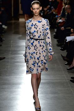 blue floral on blush. Oscar de la Renta Fall 2015 RTW Runway – Vogue