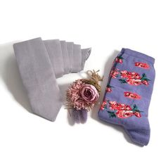 Lavender wedding linen NECKTIE Violet floral groomsmen socks matching suspenders bowtie children adult BestMan Usher set FatheroftheBride Rustic Groomsmen Attire, Groomsmen Socks, Groomsmen Proposal, Burgundy Wedding, Blue Wedding, Floral Bow Tie, Thing 1, Wedding Linens, Tall Guys