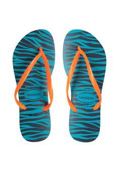 c7d549d7f032d Sandália Havaianas Slim Animals Azul