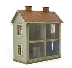 Doll house.  Glass doors on grandma's dollhouse?