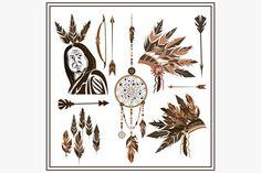 Set of ethnic style arrows @creativework247