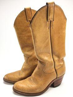 Justin L 1544 mens tan cowboy boots size 6.5 B Narrow  JustinBoots   CowboyWestern   a80463cd98