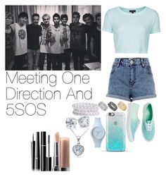 """Meeting One Direction And 5SOS"" by lauren-beth-owens ❤ liked on Polyvore featuring Topshop, River Island, Vans, Dorothy Perkins, Ice-Watch, Pieces, Blue Nile, Allurez, SUQQU and Maybelline"