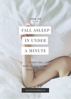 how to fall asleep in under a minute. this is great for those who have insomnia or trouble falling asleep at night.