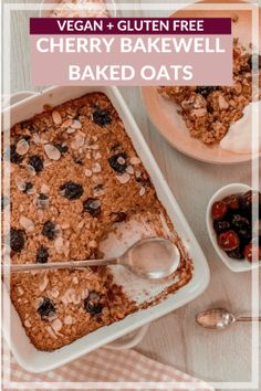 This healthy cherry bakewell baked oats recipe makes for a delicious dessert or hearty breakfast! I love this cherry bakewell version, but, for a twist, swap in Porridge Recipes, Oats Recipes, Gourmet Recipes, Vegan Recipes, Sweet Recipes, Yummy Recipes, Quick Healthy Desserts, Great Desserts, Delicious Desserts