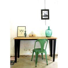 Metalen stoel groen - quip&Co