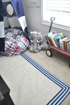 Reading Nook with rug via Pottery Barn