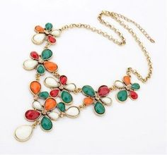 FLOWER NECKLACES HANDMADE STATEMENT NECKLACE ETHIC ANTIQUE LINK CHAIN TIN WOMEN NECKLACE FASHION 2014 NEW COLLECTION TOPSHOP