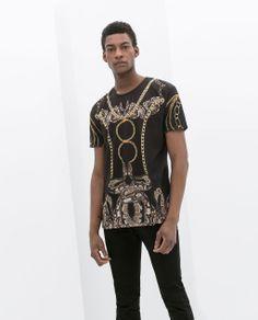 Image 1 of SNAKE PRINT T-SHIRT from Zara