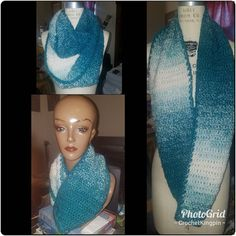 Cop it before the price goes up. $17 for this teal/cream scarf. I take card. :-) #scarf #cold #fashion #crochet #icrochet #madeinthedmv #blkcreatives Fashion Accessories, Teal, Cold, Crochet, Design, Knit Crochet, Crocheting, Design Comics