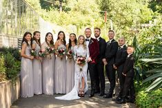 Wedding Party Looks // An Intimate Boho Botanical Garden Wedding via TheELD.com Botanical Gardens Wedding, Garden Wedding, Groom And Groomsmen Style, Wedding Costs, Bridesmaid Dresses, Wedding Dresses, Party Looks, Wedding Ceremony, Wedding Planner