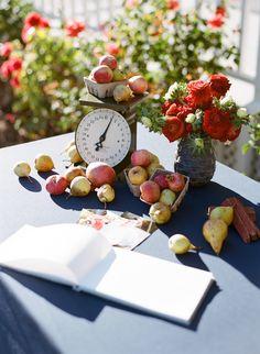Apples.  Floral Design: Jacin Fitzgerald Events. Photography: Josh Gruetzmacher Photography - joshgruetzmacher.com