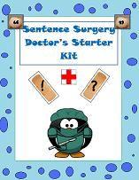 sentence surgery doctor's starter kit- editing fun!
