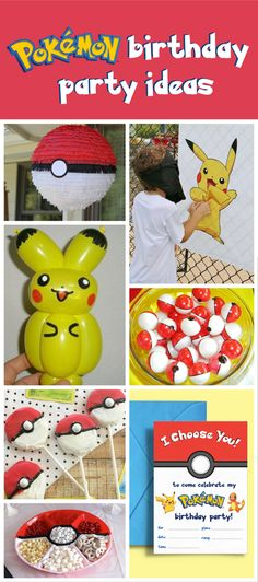 You can't have a Pokemon Birthday Party without seeing our cool ideas first!