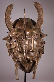 Max Ernst, 1954, after a Senufo helmet mask (Je ne pouvais pas laisser passer celui-là!)