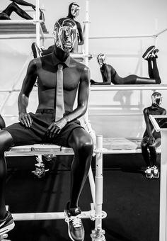 "Hans Boodt Mannequins at Modefabriek, Amsterdam, Holland,""Mirror Image"", pinned by Ton van der Veer"