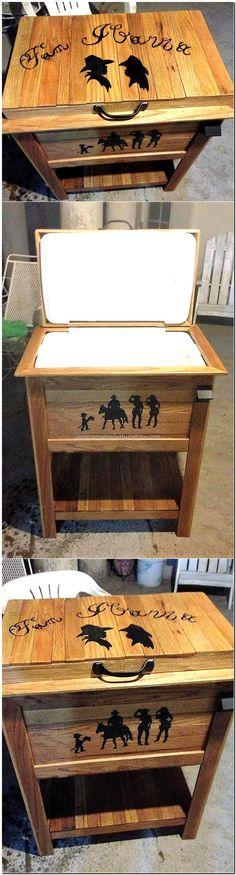 wood pallet cooler idea