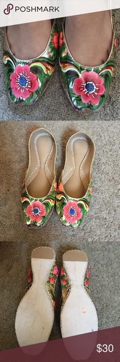NWOT oil paint style flats Extremely beautiful oil paint look floral design flats . I own one and I always gets compliments when I wear it. Size 7 to 7.5. Shoes Flats & Loafers