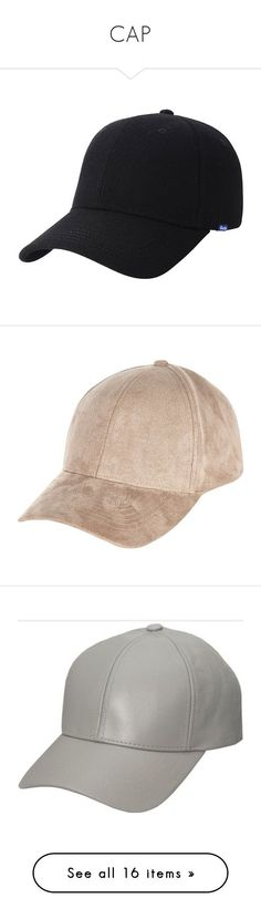 """""""CAP"""" by ines-armandine ❤ liked on Polyvore featuring accessories, hats, baseb..."""