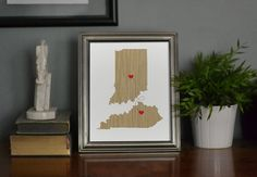 Two States Love Wedding Gift  Personalized State by EmbieOnline