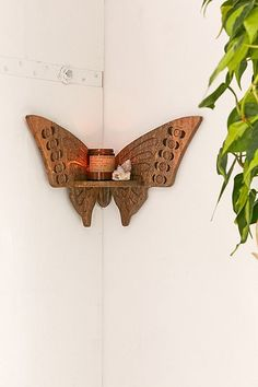 Slide View: Butterfly Corner Shelf 38 Airy Beach Home Decor Ideas California Traditional Home Tour My New Room, My Room, Butterfly Bedroom, Butterfly Pillow, Butterfly Wall Art, Butterfly Decorations, Cute Room Decor, Corner Shelves, Wall Shelves