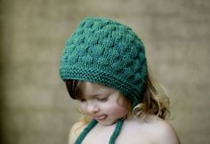 Bumpy Bonnet Teal Toddler Size Handmade by typicallyred on Etsy, $40.00