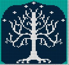 tree of gondor knitting chart