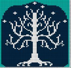 tree of gondor knitting chart